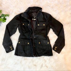 J. Crew black jean light weight jacket boyfriend